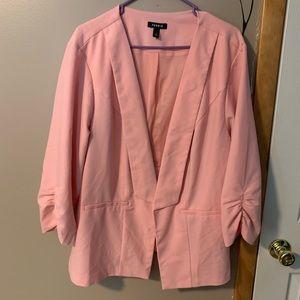 Torrid Pink Open Front Blazer-size 3